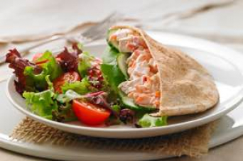 Recipe - Turkey and veggie stuffed pita
